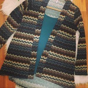 Francesca's Alya layering cardigan fall colors